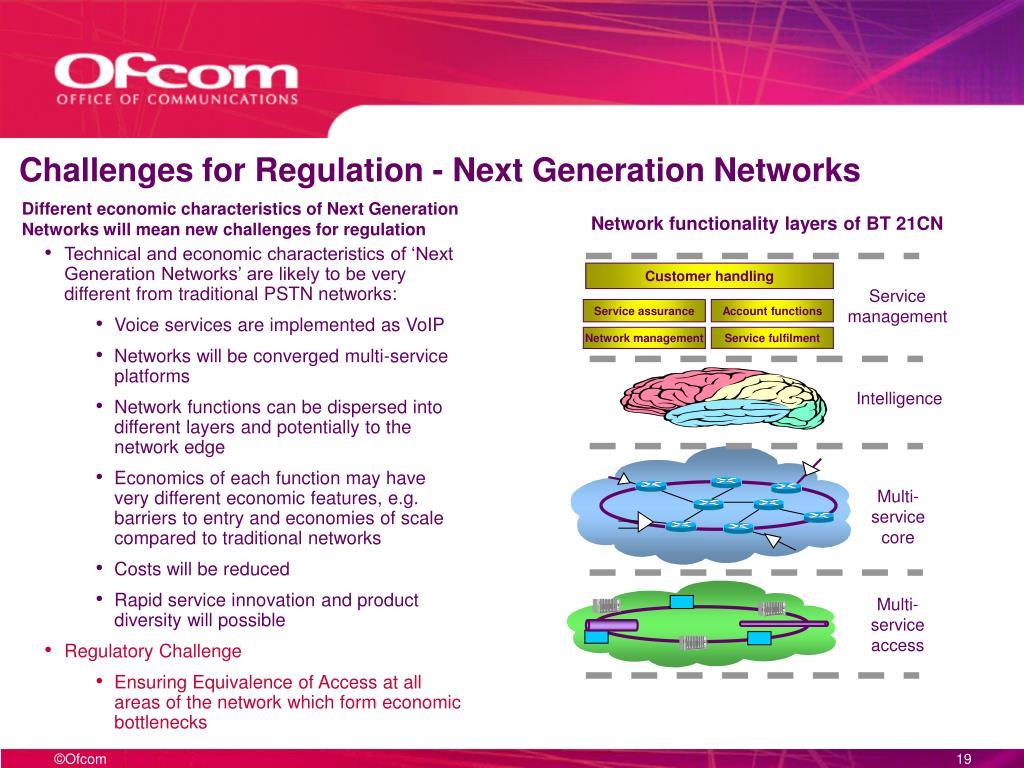 Challenges for Regulation - Next Generation Networks