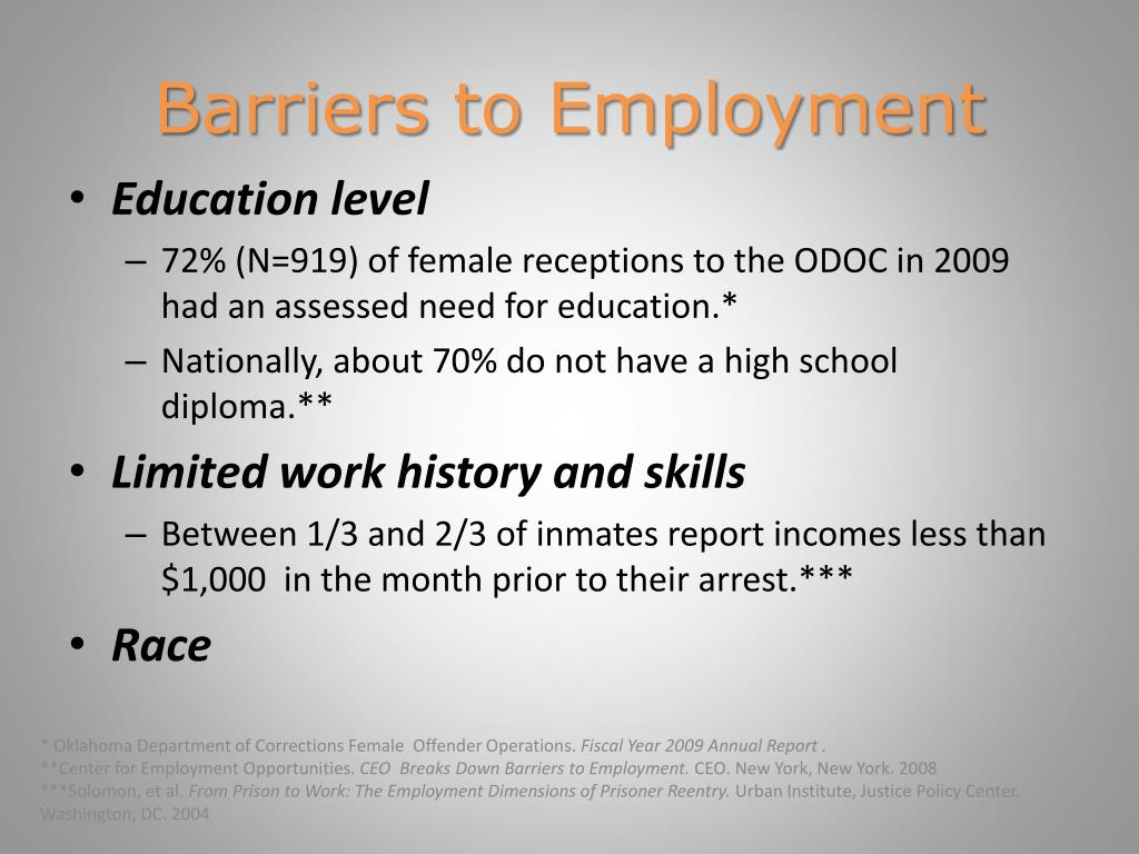 Ppt ex offenders and employment an overview powerpoint