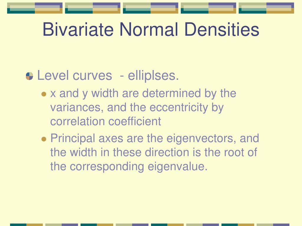Bivariate Normal Densities