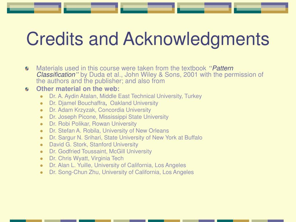 Credits and Acknowledgments