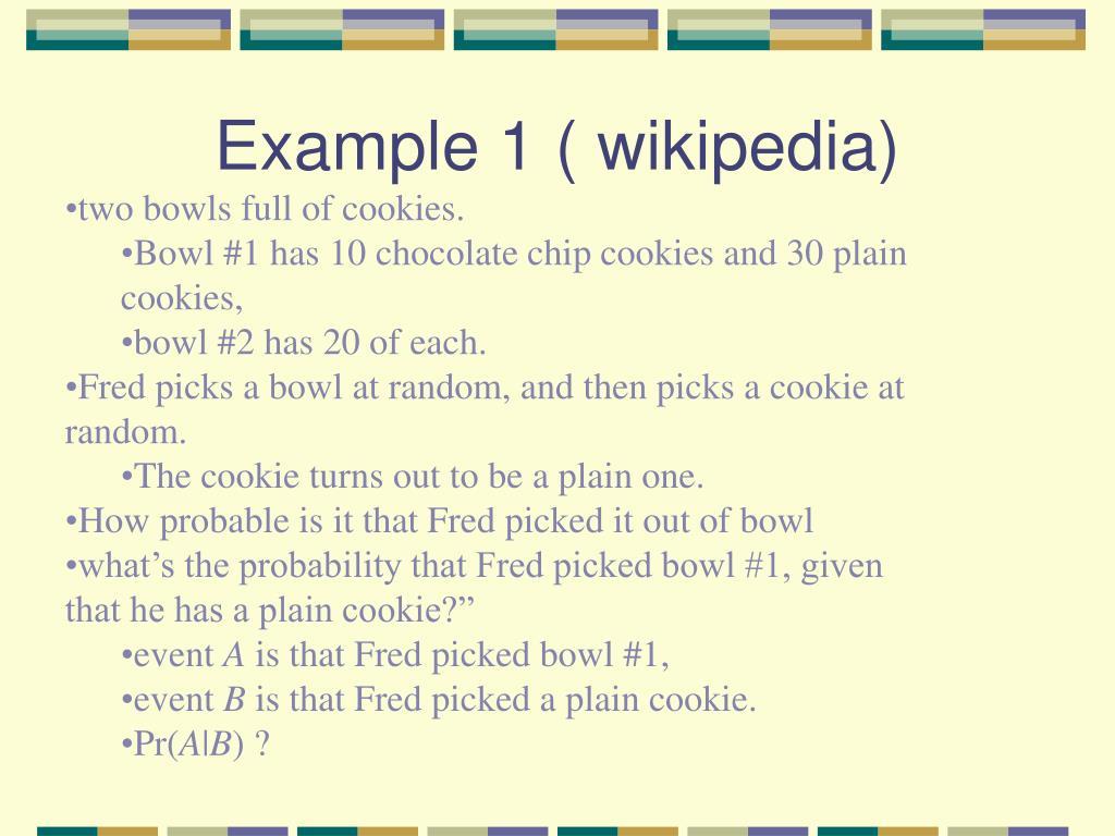 Example 1 ( wikipedia)