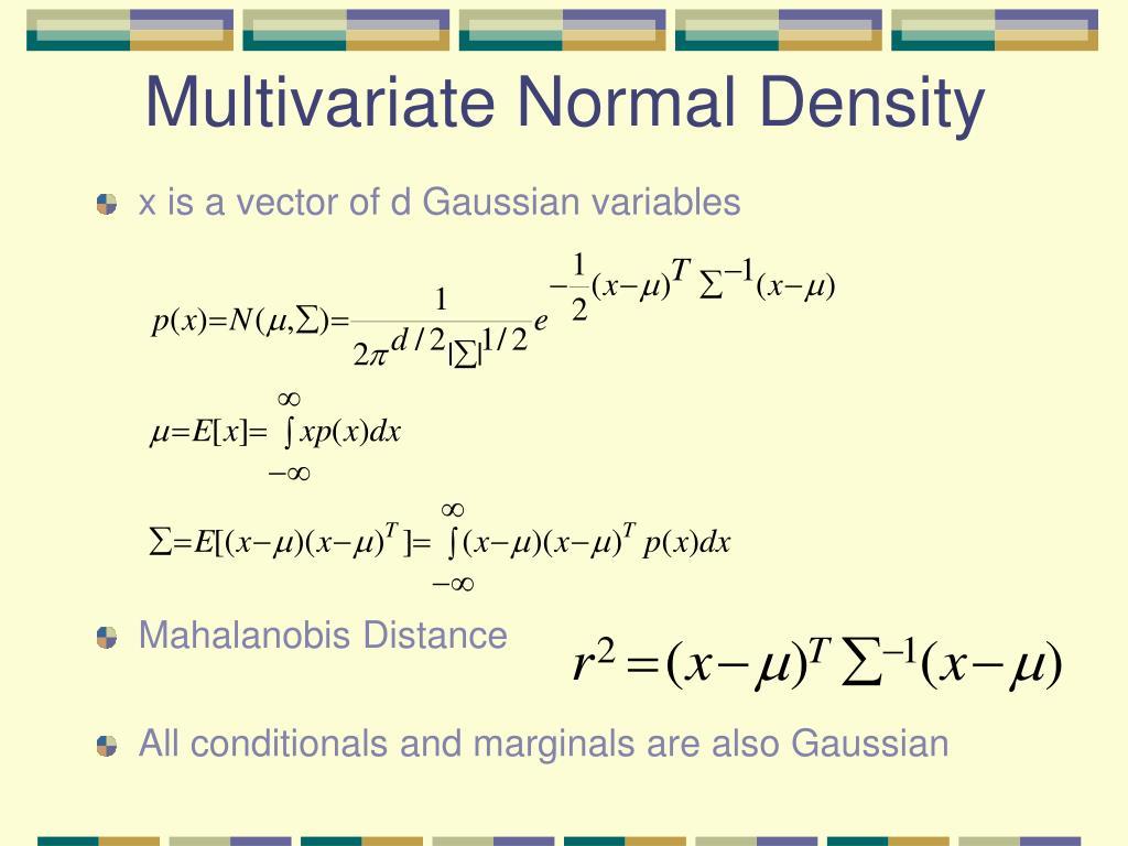 Multivariate Normal Density