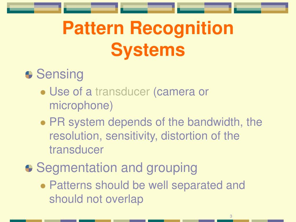 Pattern Recognition Systems