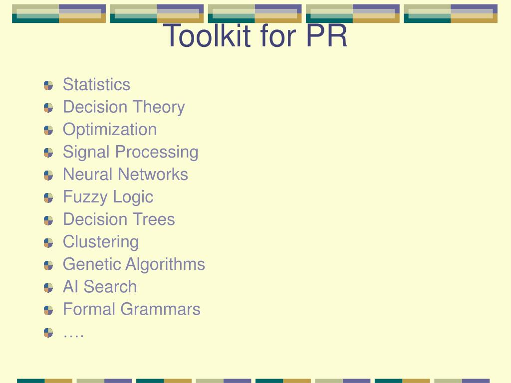 Toolkit for PR