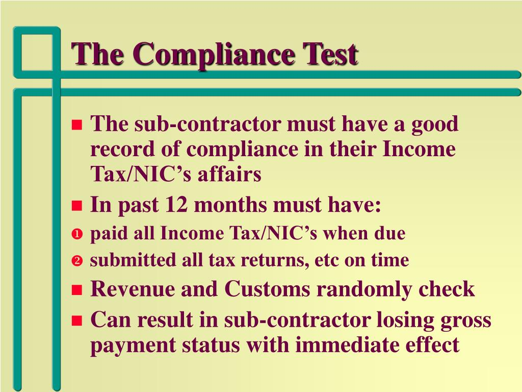 The Compliance Test