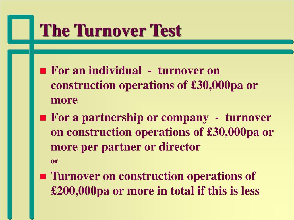 The Turnover Test