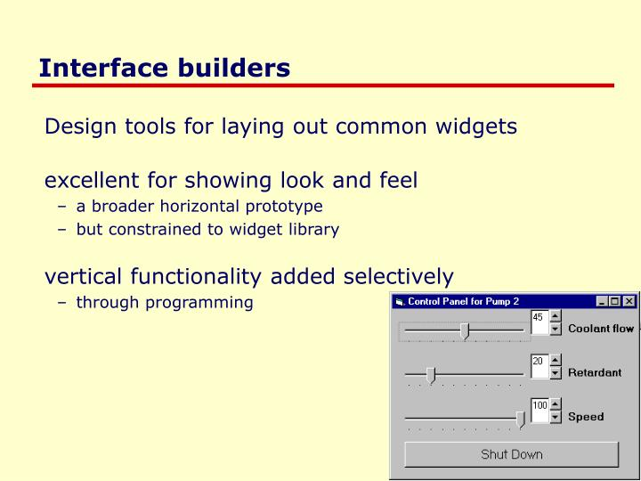 Interface builders