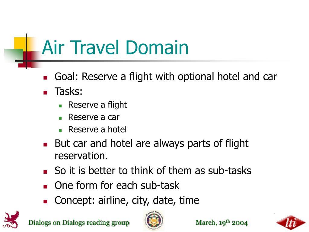 Air Travel Domain