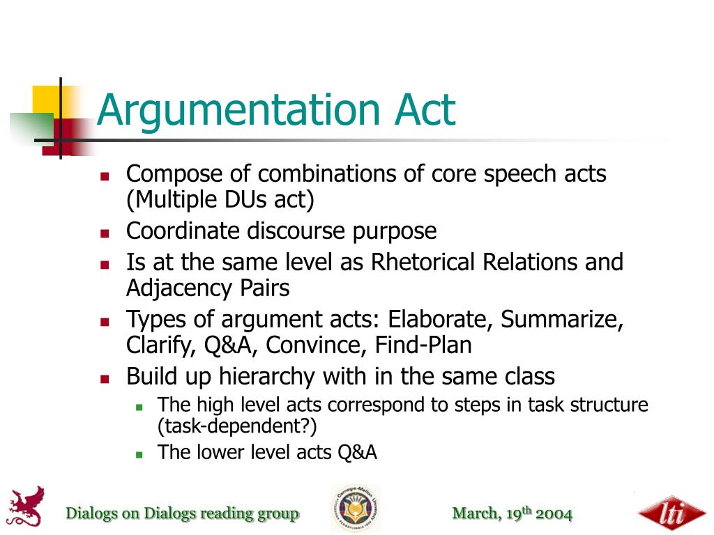 Argumentation Act