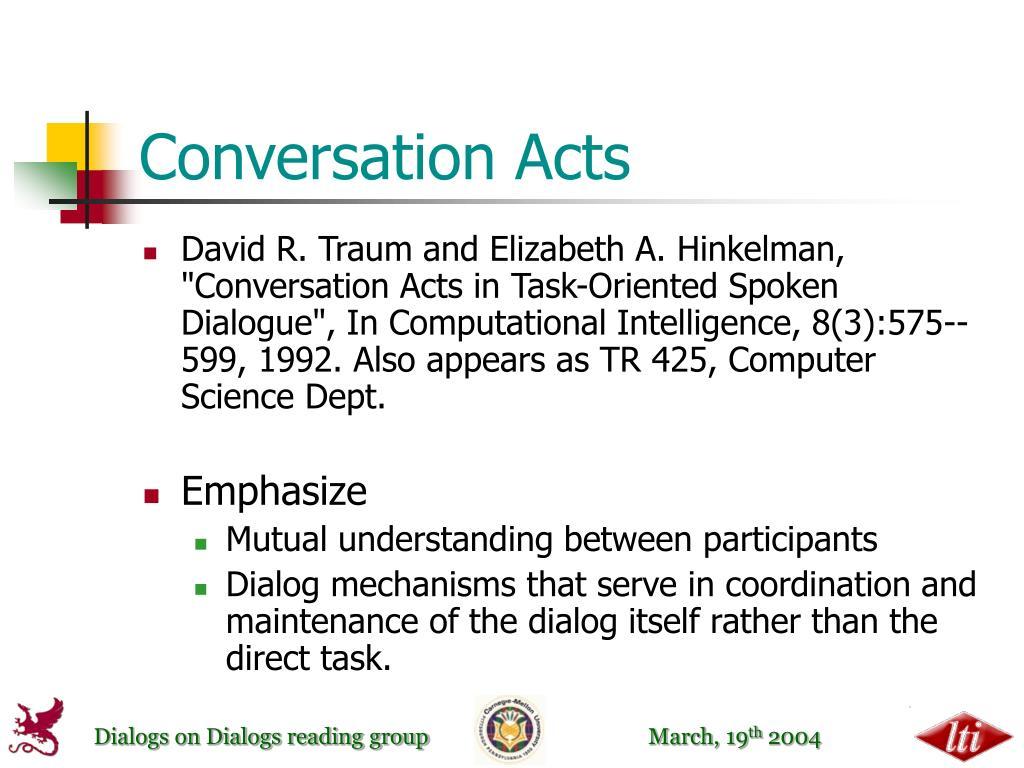 Conversation Acts
