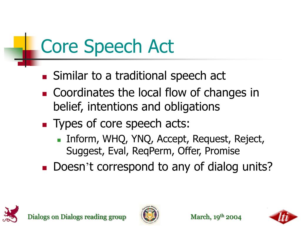 Core Speech Act