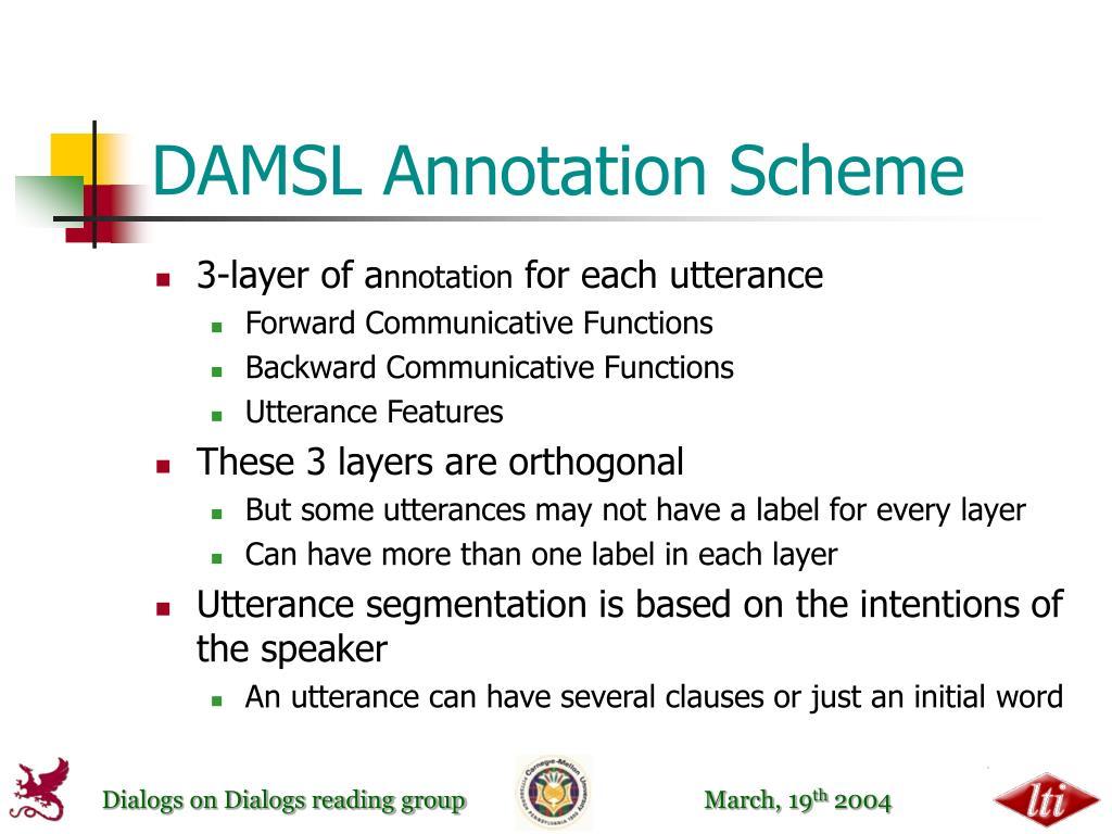 DAMSL Annotation Scheme