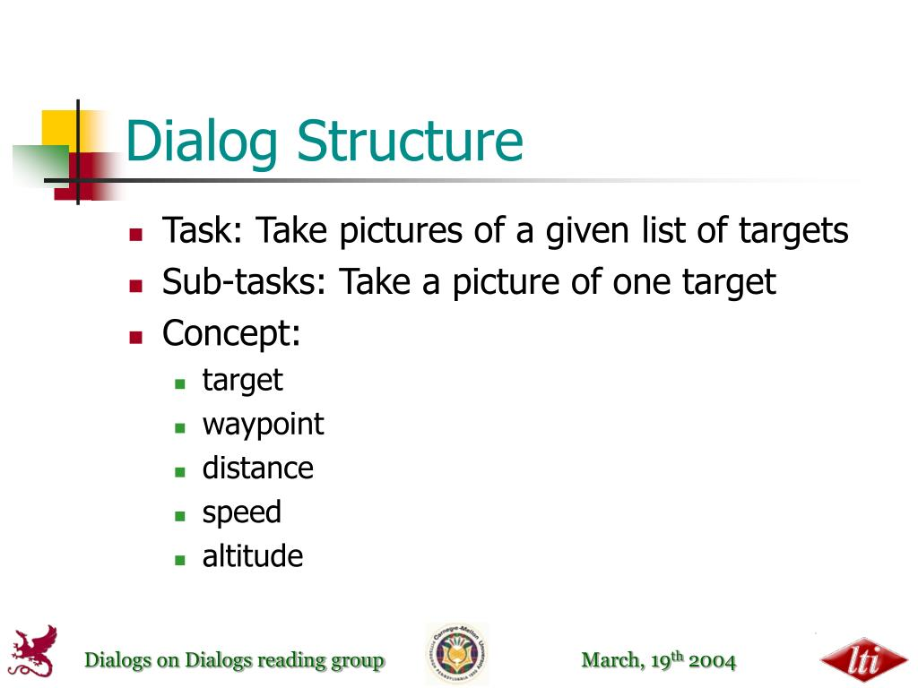 Dialog Structure