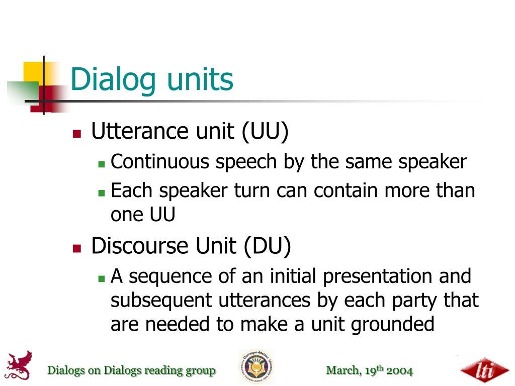 Dialog units