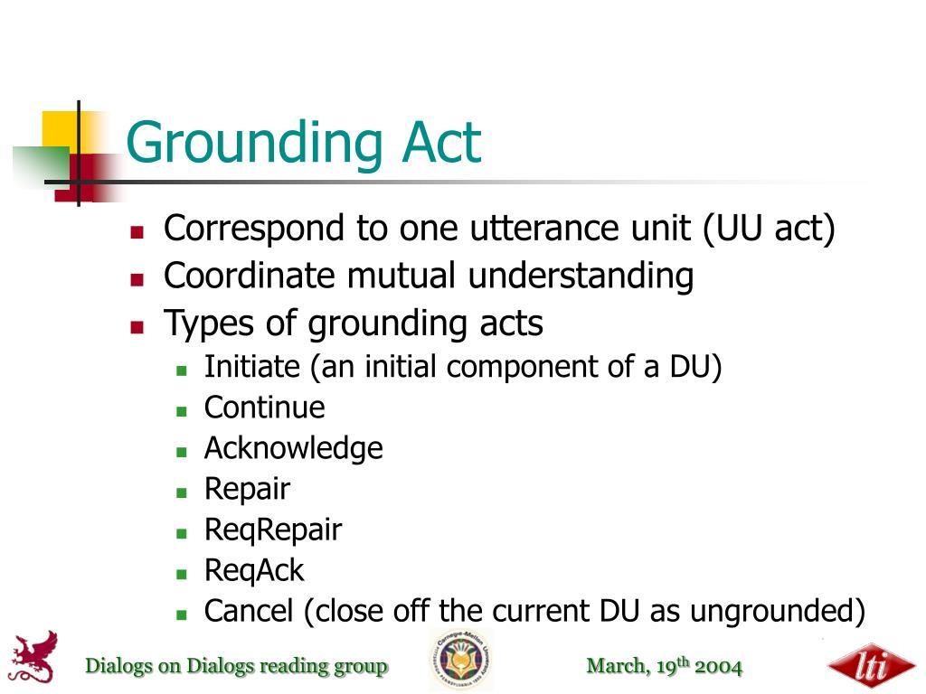 Grounding Act