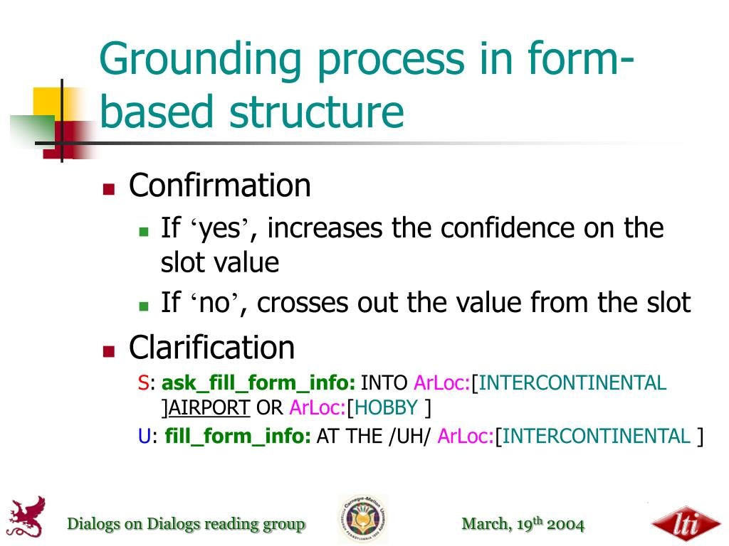 Grounding process in form-based structure