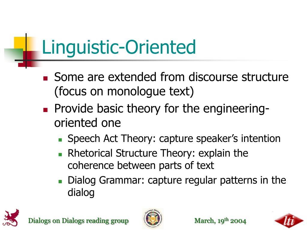 Linguistic-Oriented