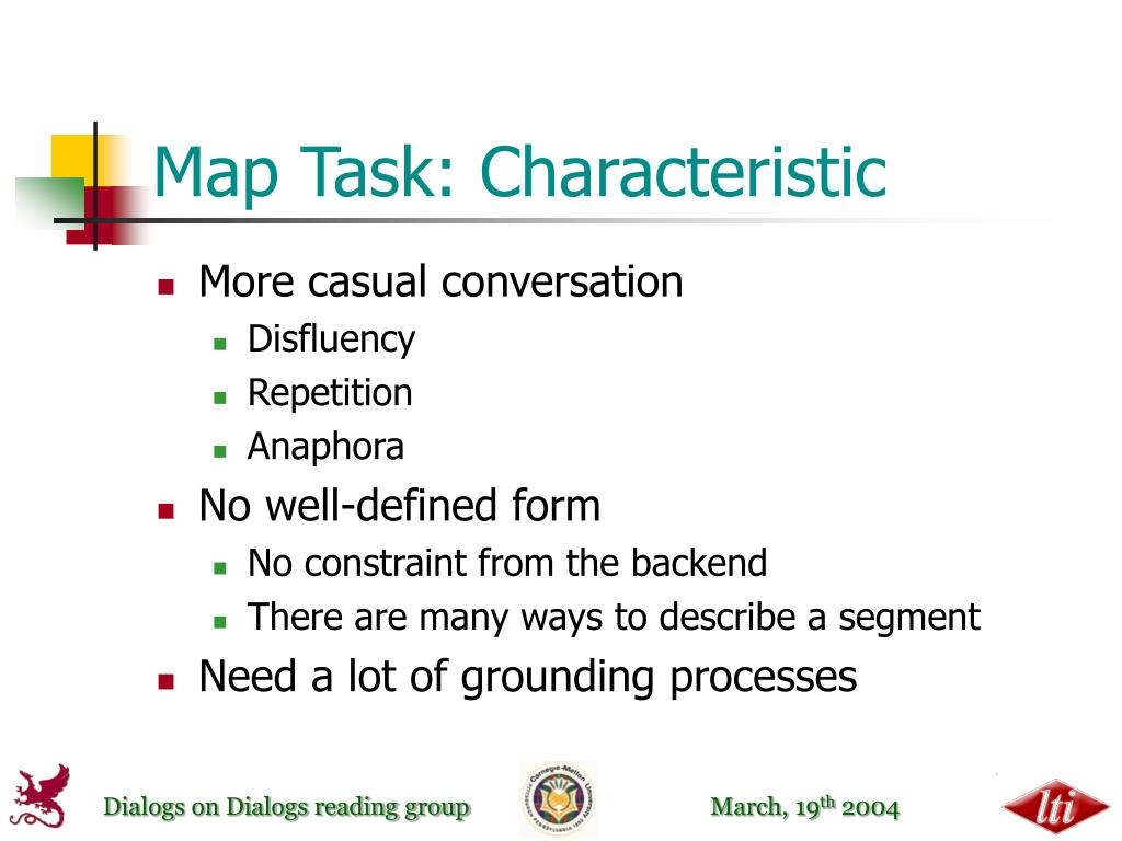 Map Task: Characteristic