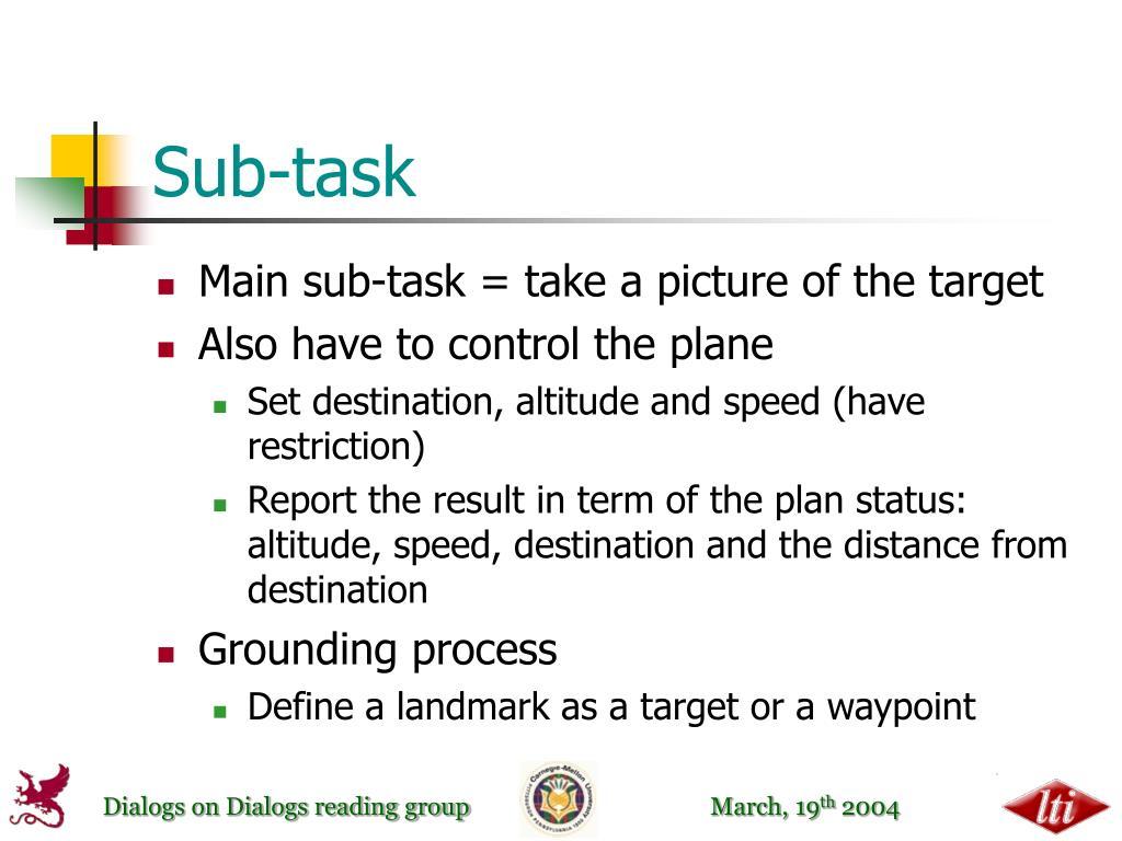 Sub-task