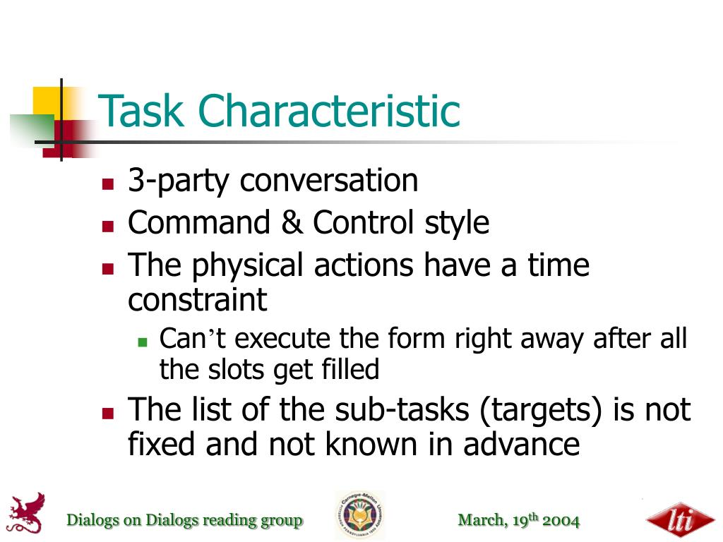 Task Characteristic
