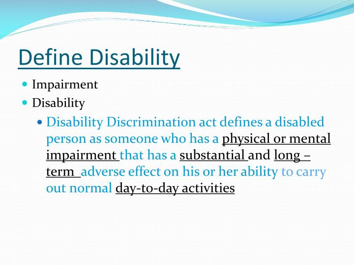 Define disability
