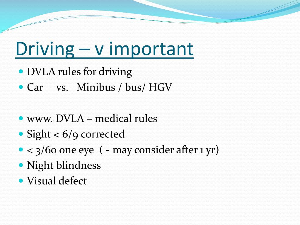 Driving – v important