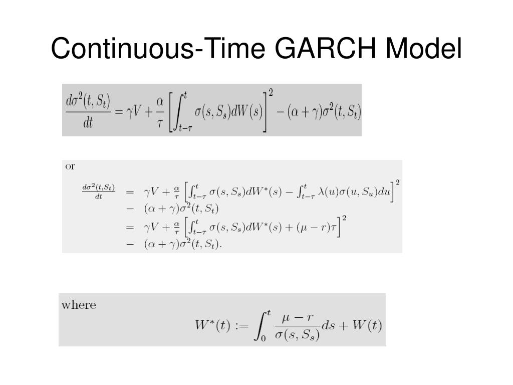 Continuous-Time GARCH Model