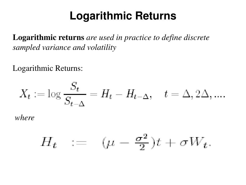 Logarithmic Returns