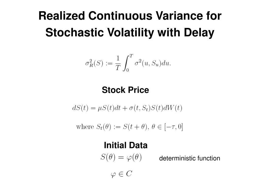Realized Continuous Variance for