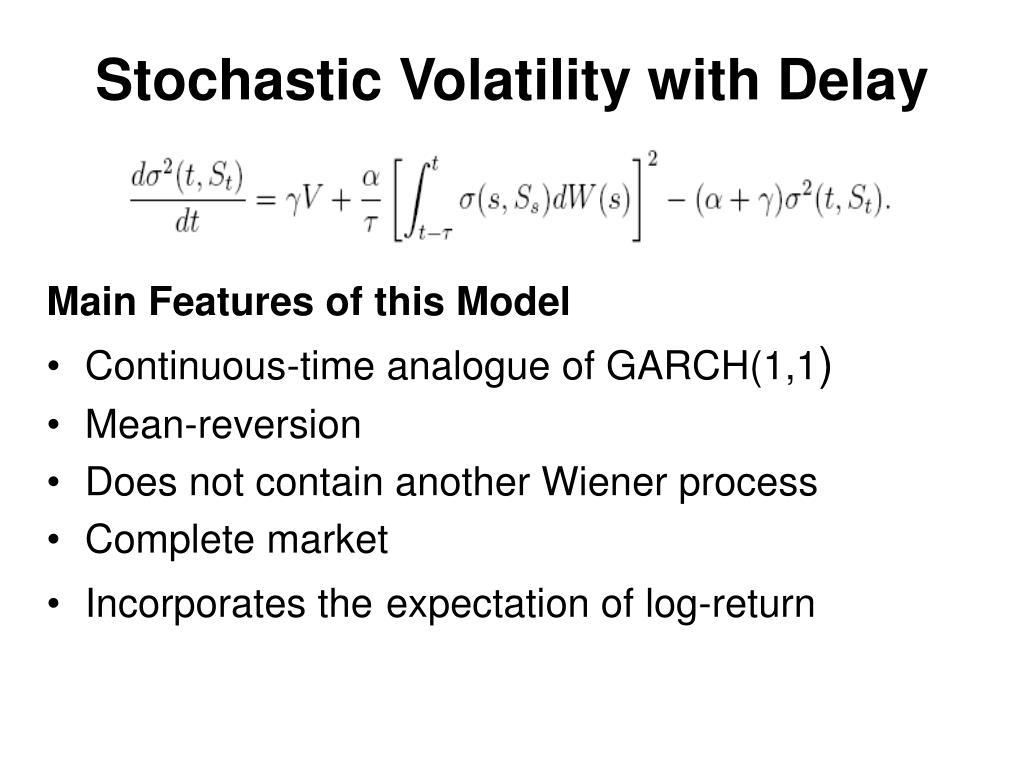 Stochastic Volatility with Delay