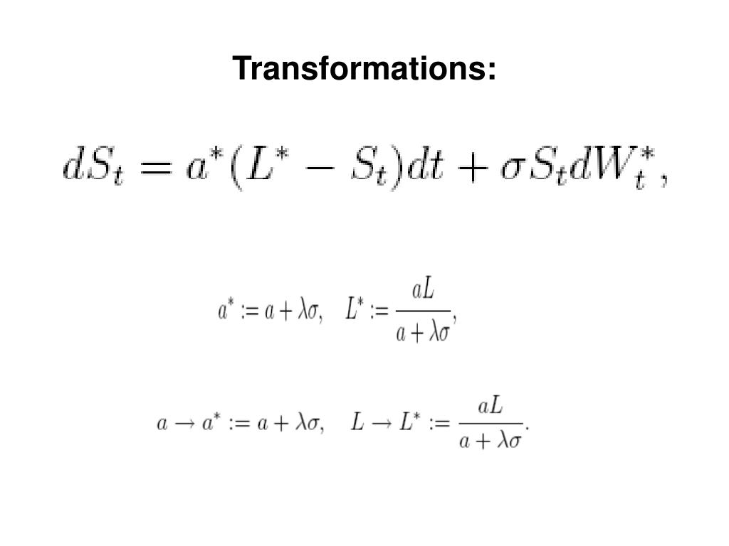 Transformations: