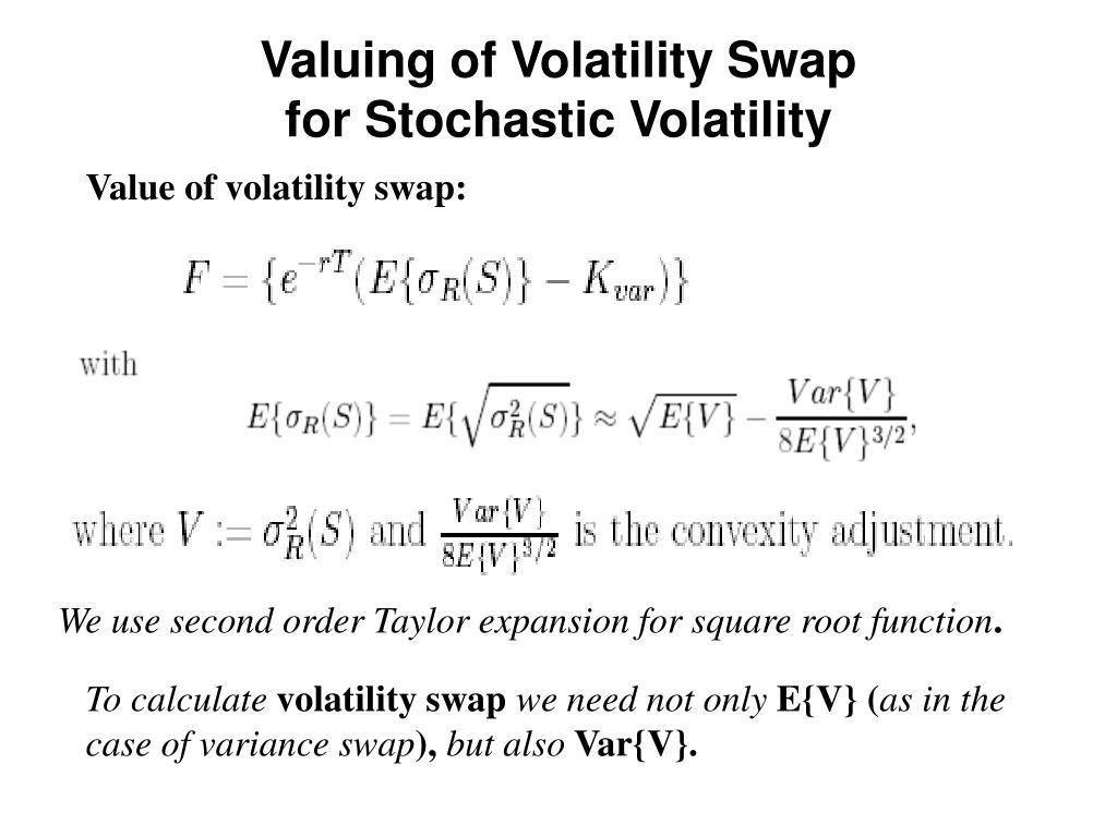 Valuing of Volatility Swap