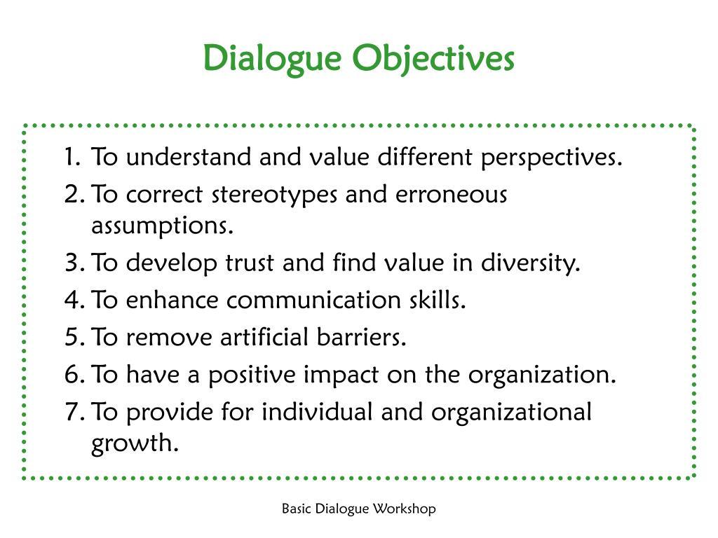 Dialogue Objectives