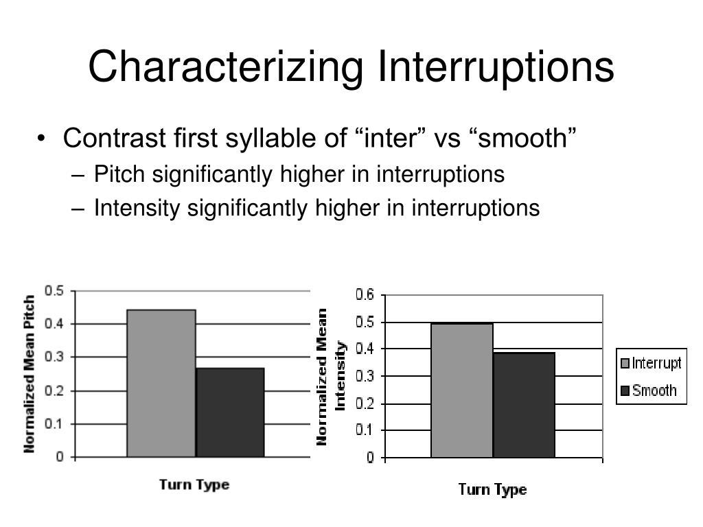 Characterizing Interruptions