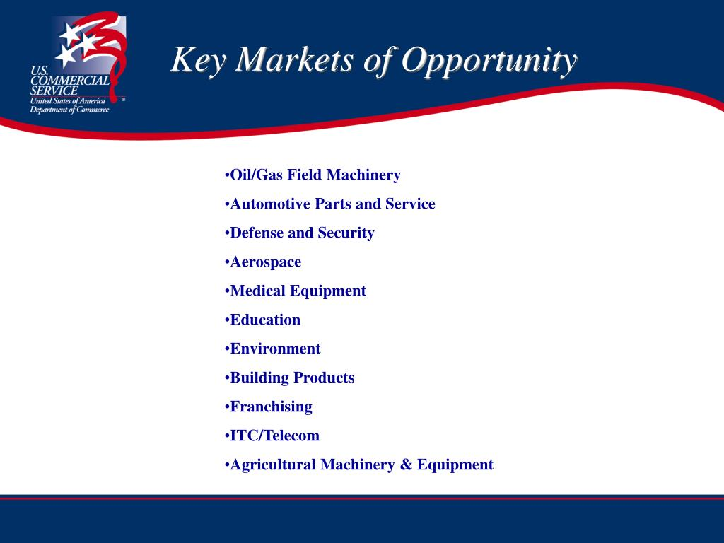 Key Markets of Opportunity
