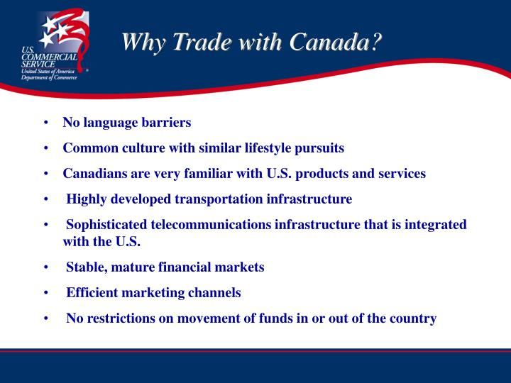 Why trade with canada