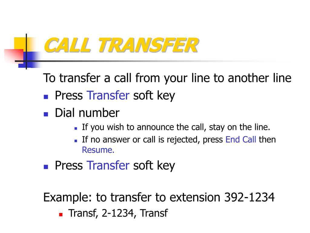 call tranfer