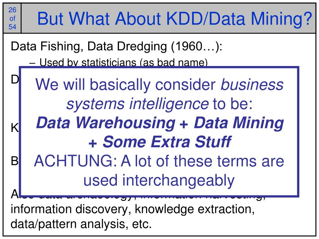 But What About KDD/Data Mining?