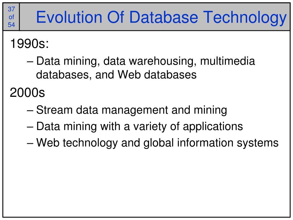 Evolution Of Database Technology