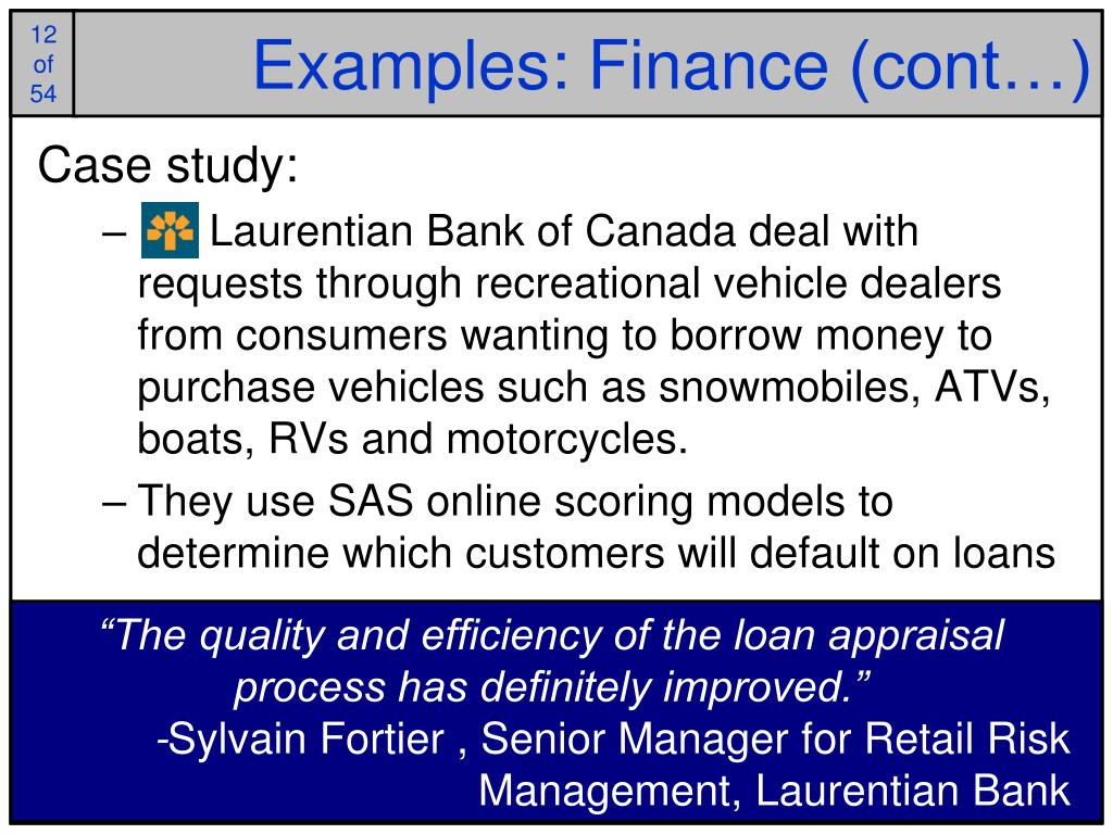 Examples: Finance