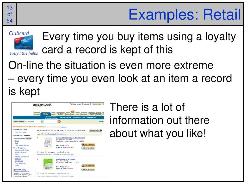 Examples: Retail