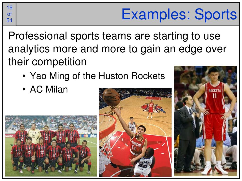 Examples: Sports