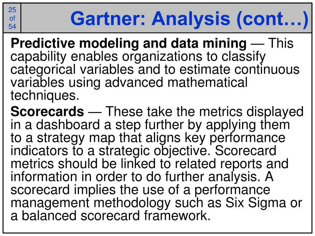 Gartner: Analysis (cont…)