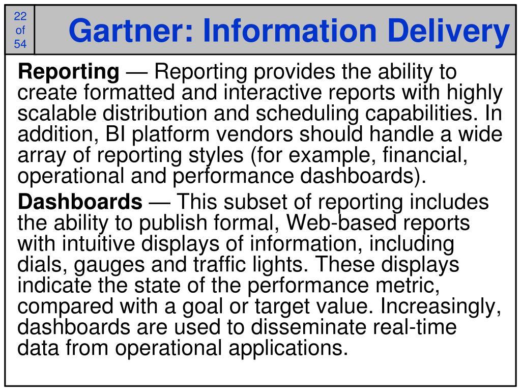 Gartner: Information Delivery