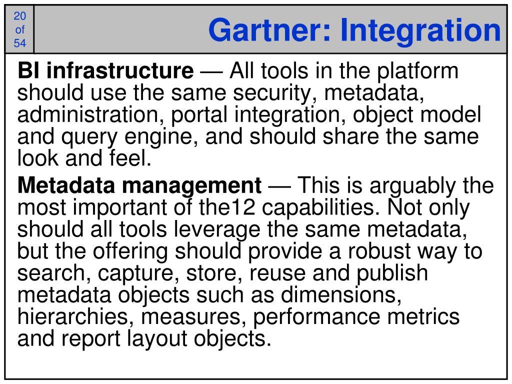 Gartner: Integration