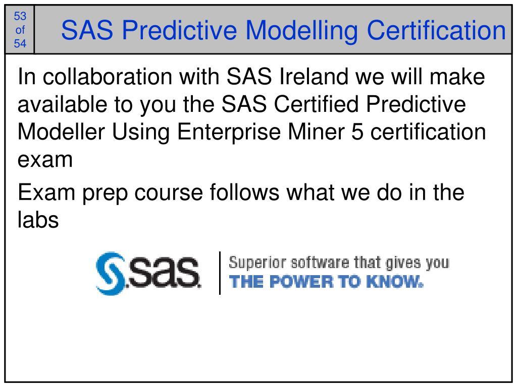 SAS Predictive Modelling Certification