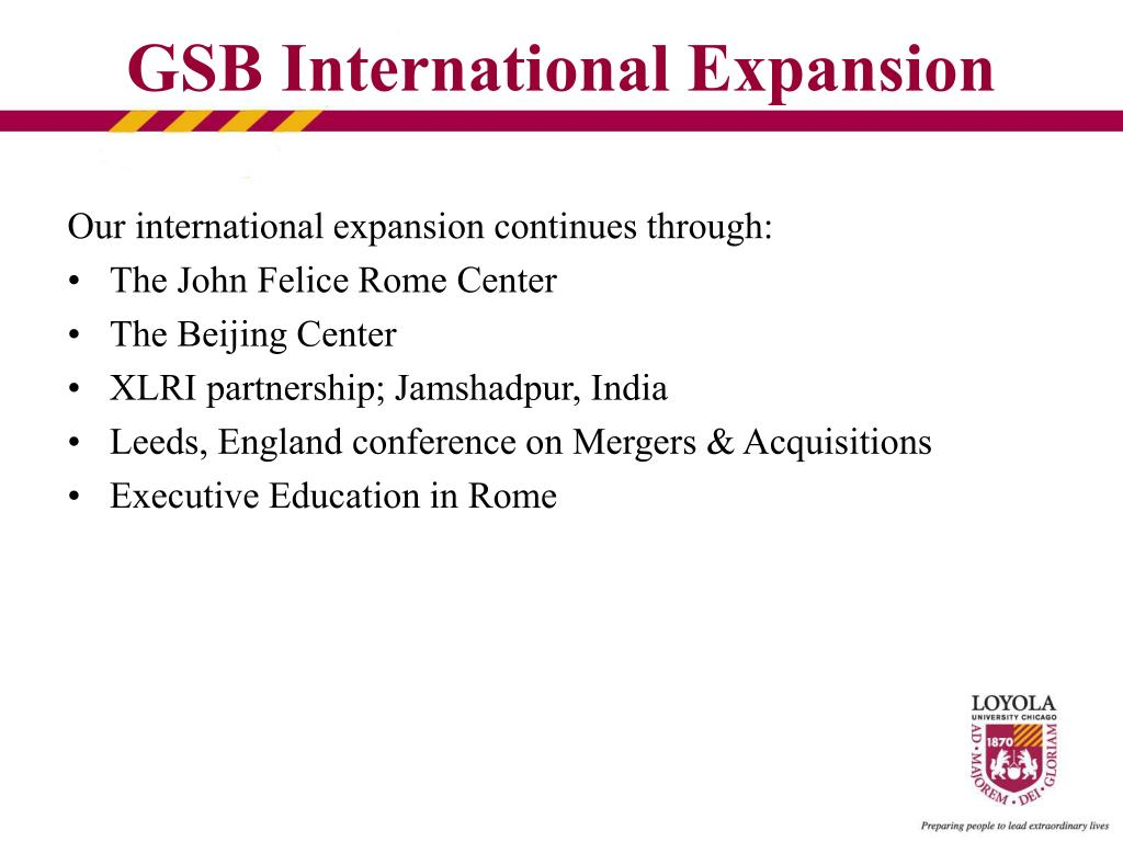 Our international expansion continues through: