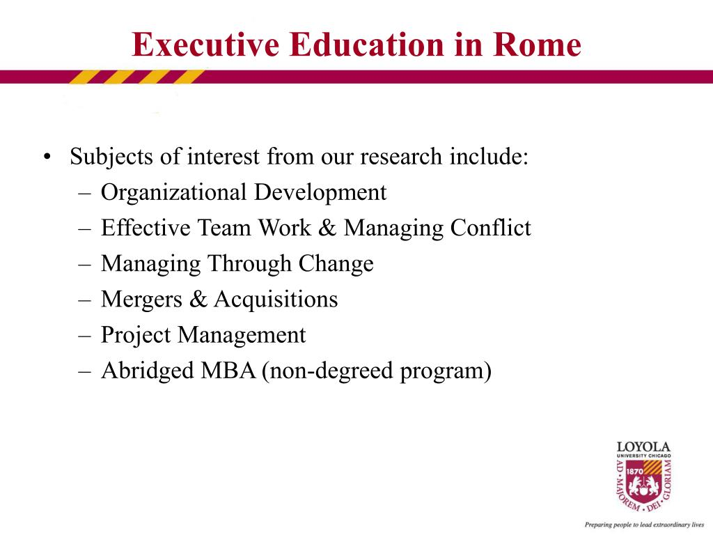 Subjects of interest from our research include: