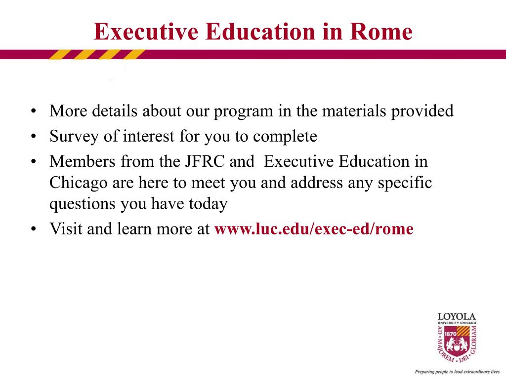 More details about our program in the materials provided