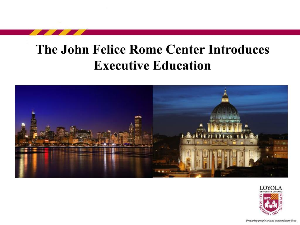 The John Felice Rome Center Introduces Executive Education